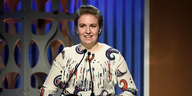 Lena Dunham speaks onstage during the 24th annual Women in Entertainment Breakfast in 2015.