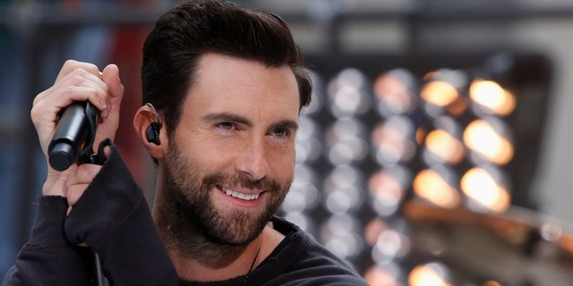 Singer Adam Levine performs with his band Maroon 5 in New York.