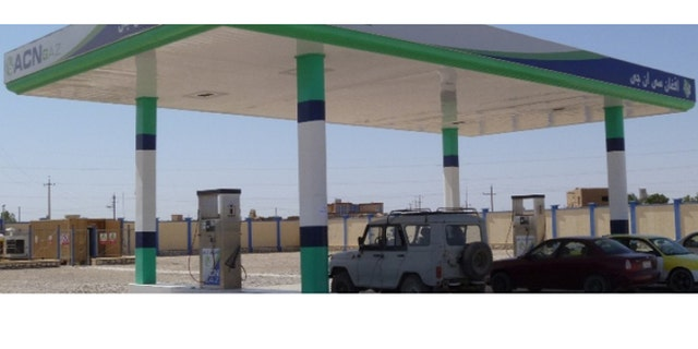 The $43 million gas station in Sheberghan, Afghanistan, constructed by the Department of Defense's Task Force for Stability and Business Operations (TFBSO) Downstream Gas Utilization project.