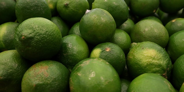 SAN FRANCISCO, CA - MARCH 27:  Limes are displayed at Cal-Mart Grocery on March 27, 2014 in San Francisco, California. Food prices are on the rise and expected to keep edging up throughout the year as the drought and other factors have impacted the availability and cost of groceries like coffee, milk, limes and pork.  (Photo by Justin Sullivan/Getty Images)