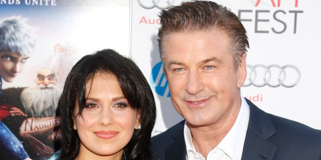 "Nov. 4, 2012: This file photo shows actor Alec Baldwin, right, and his wife Hilaria Thomas at the ""Rise Of The Guardians'"" special screening during the 2012 AFI FEST at Grauman's Chinese Theatre in the Hollywood section of Los Angeles."