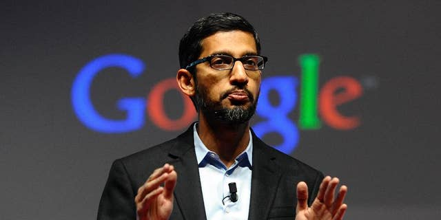 Google CEO Sundar Pichai, seen in a March 2, 2015, file photo, says a memo written by an employee who has since been fired violated the company's code of conduct.