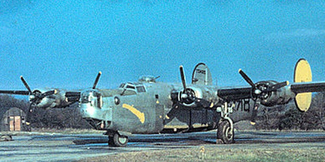 A B-24 used by the 489th bomb group in 1944.