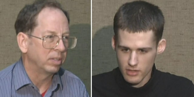"""Undated - American tourists Matthew Todd Miller (right) and Jeffrey Edward Fowle (left), held and charged with """"anti-state"""" crimes in North Korea. The two were seen on Associated Press video Friday, saying they expected to be tried soon and pleading for help from the U.S. government to secure their release."""