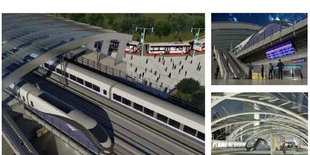 Conceptual illlustrations show six-track elevated and below-grade stations, part of Amtrak's ambitious plan to bring high-speed rail to the Northeast Corridor. But incoming governors in Wisconsin and Ohio are saying, no thanks.