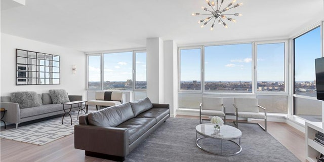 The luxury apartment(s) boasts Hudson River views but no outdoor space.