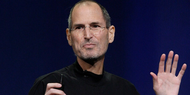 Apple Inc. Chairman and CEO Steve Jobs speaks at an Apple event at the Yerba Buena Center for the Arts Theater in San Francisco, Wednesday, March 2, 2011.