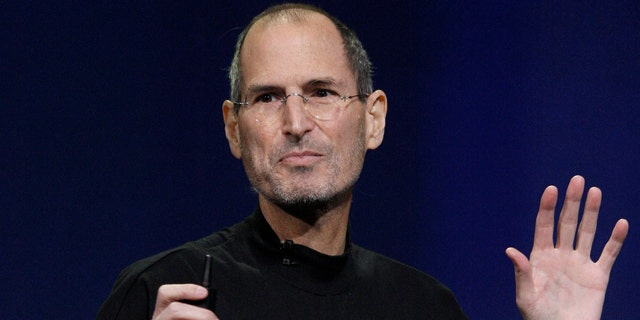 Apple chairman and CEO Steve Jobs speaks at an Apple event at the Yerba Buena Center for the Arts Theater in San Francisco, Wednesday, March 2, 2011.