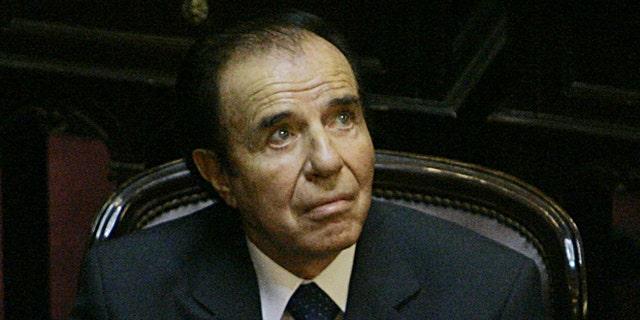 Argentina's former President Carlos Menem in a 2005 file photo.