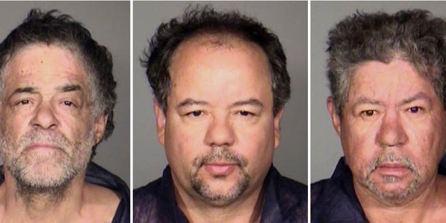 This combination photo released by the Cleveland Police Department shows from left, Onil Castro, Ariel Castro, and Pedro Casto. (AP Photo/Cleveland Police Department)