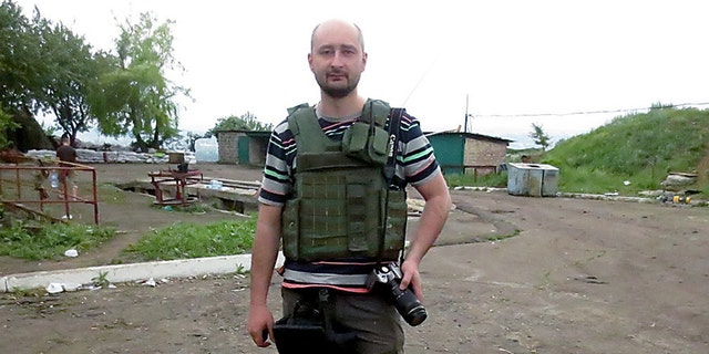 Arkady Babchenko's wife reportedly told authorities the two suspected Babchenko had a target on his back because of his professional work.