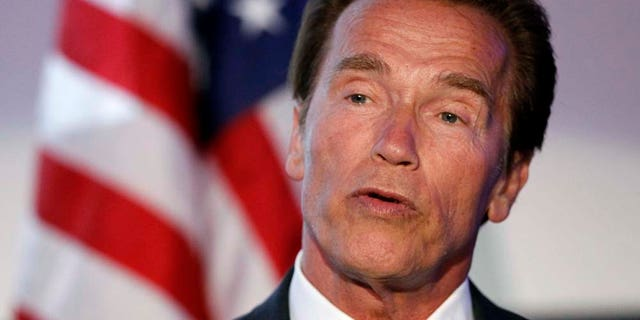 Schwarzenegger was the target of a light-hearted swipe from the president.