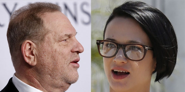 Italian actress Asia Argento alleges Harvey Weinstein (left) forcibly performed oral sex on her.