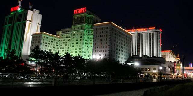 FILE: 2009: A view from the boardwalk of several casinos in Atlantic City, New Jersey.