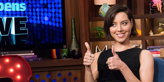 WATCH WHAT HAPPENS LIVE -- Episode 13114 -- Pictured: Aubrey Plaza -- (Photo by: Charles Sykes/Bravo)