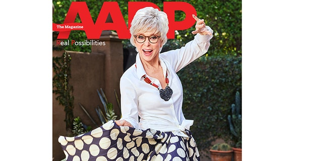 """""""West Side Story"""" star Rita Moreno is the new cover girl for AARP the Magazine."""