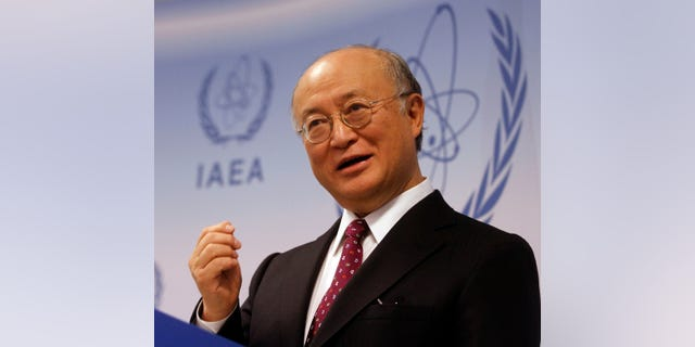 Dec. 2: Director General of the International Atomic Energy Agency, IAEA, Yukiya Amano from Japan speaks during a news conference after IAEA's board of governors meeting at Vienna's International Center in Vienna, Austria.