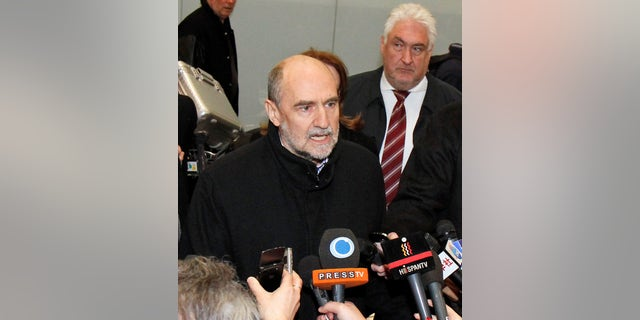 Jan. 18, 2013 - Herman Nackaerts, Dep Dir General & Head of  Dept of Safeguards of the International Atomic Energy Agency, after his arrival from Iran at Vienna's Schwechat airport.