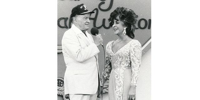 Bob Hope with Elizabeth Taylor.