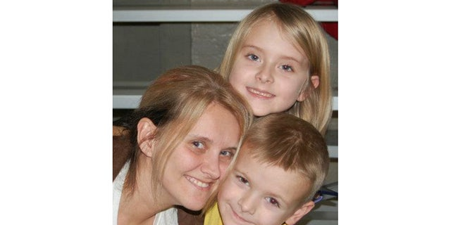 Crystal Rogers and her children.