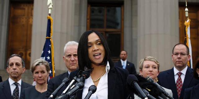 FILE - In this May 1, 2015 file photo, Baltimore state's attorney Marilyn Mosby speaks in Baltimore. (AP Photo/Alex Brandon, File)