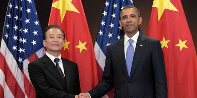 President Barack Obama holds a bilateral meeting with Chinese Premier Wen Jiabao at the United Nations, Thursday, Sept.  23, 2010.