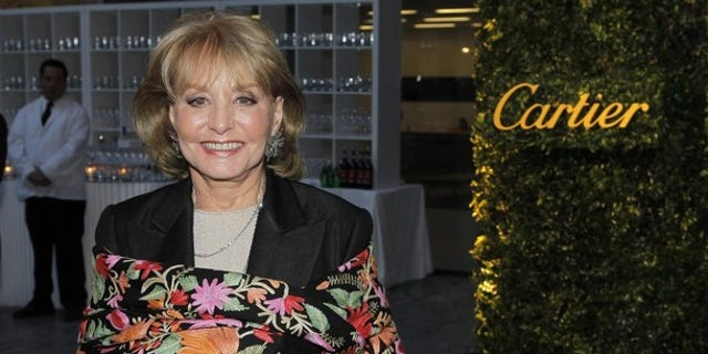 """May 22: Broadcast journalist Barbara Walters attends the Museum of Modern Art's """"Party in the Garden"""" dinner in New York City."""