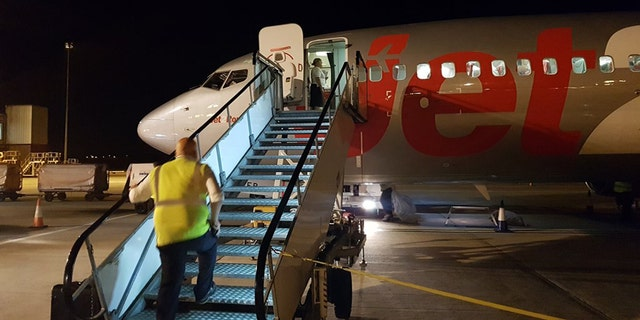 The incident happened Sunday as the plane was flying into Belfast International Airport.