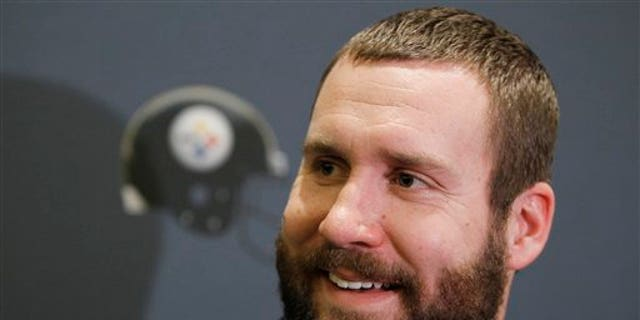 Jan. 31: Pittsburgh Steelers quarterback Ben Roethlisberger answers questions during a news conference in Fort Worth, Texas.
