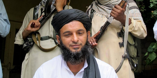 Asmatullah Muawiya, head of the Taliban's faction of fighters from central Punjab province, in 2013.