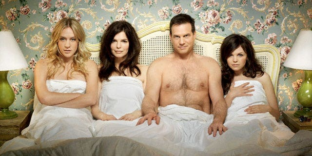 Chloe Sevigny, Jeanne Tripplehorn, Bill Paxton and Ginnifer Goodwin from HBO's 'Big Love.'