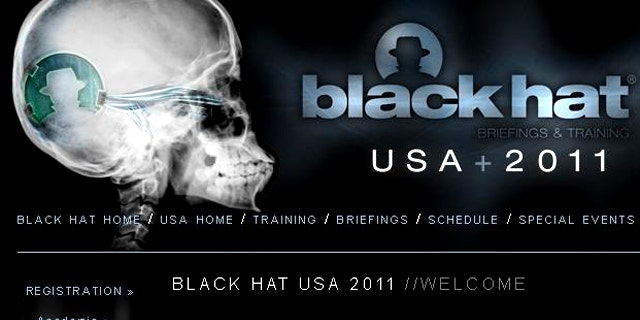 A screenshot of the website for the Black Hat 2011 conference, where hackers from around the world converge to swap ideas and techniques..