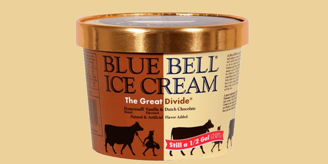 The Great Divide features vanilla on one side of the carton and chocolate ice cream on the other.
