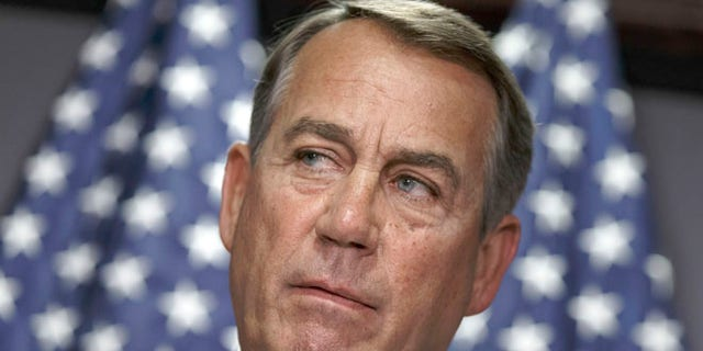 House Speaker John Boehner of Ohio meets with reporters on Capitol Hill in Washington, Tuesday, June 24, 2014.