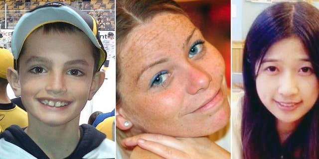 This combination of undated family photos shows, from left, Martin Richard, 8, Krystle Campbell, 29, and Lingzi Lu, 23.