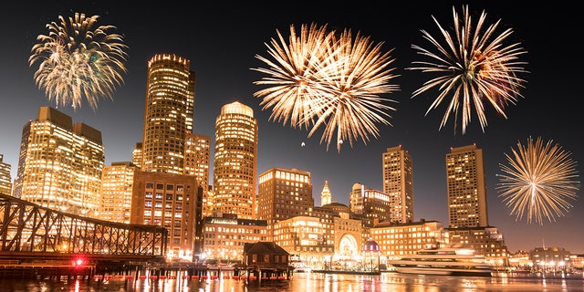 Not to be outdone by New York, Boston, too, is launching fireworks from seven barges in the Charles River.