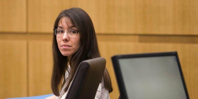 Jodi Arias listens to testimony in Maricopa County Superior Court, Wednesday, Jan. 30, 2013 in Phoenix.