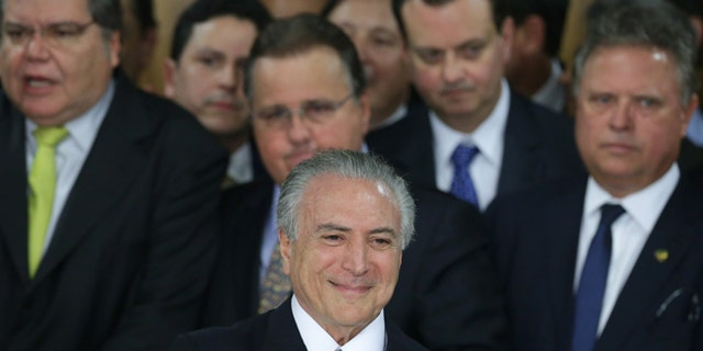 Acting President of Brazil Michel Temer on May 12, 2016.