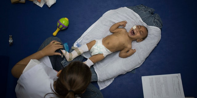 Jose Wesley Campos, 1, was born with microcephaly in Recife, Brazil.