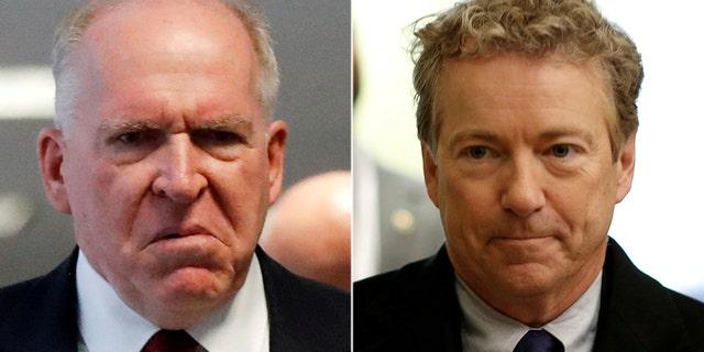 Sen. Rand Paul called Monday for President Trump to revoke former CIA director John Brennan's security clearance.