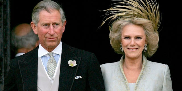 Prince Charles and Bowles at their 2005 wedding.