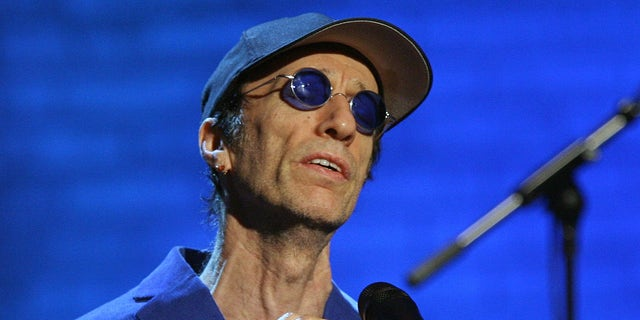"""Dec. 14, 2006: Robin Gibb performs during the """"Jose Carreras Gala"""" rehearsal in Leipzig, eastern Germany.  The Sun newspaper reported Saturday April 15, 2012 that 62-year-old Gibb is in a coma, citing a family friend."""