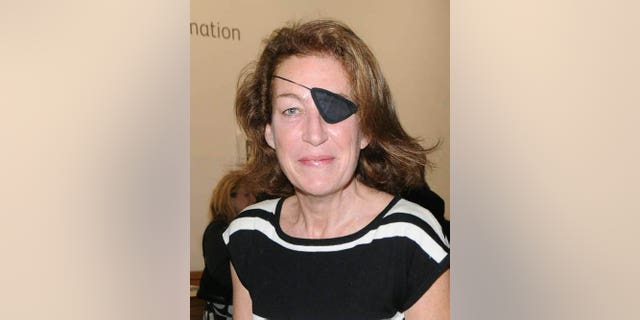 March 11, 2008: Journalist Marie Colvin is seen in London. A French government spokeswoman on Wednesday Feb. 22, 2012 identified two Western reporters killed in Syria as American war reporter Marie Colvin and French photojournalist Remi Ochlik.