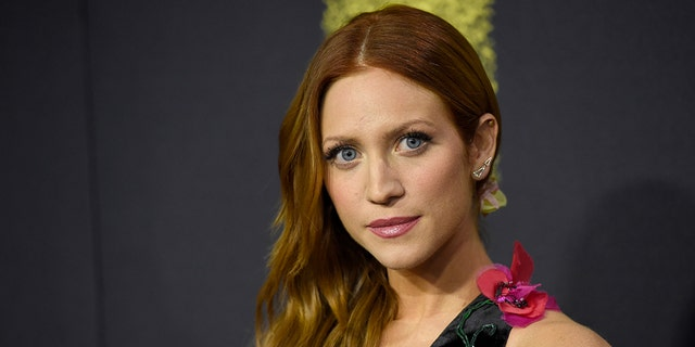 """Brittany Snow arrives at the Los Angeles premiere of """"Pitch Perfect 3"""" at the Dolby Theatre on Tuesday, Dec. 12, 2017. (Photo by Chris Pizzello/Invision/AP)"""