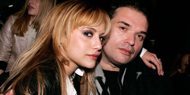 2008: Brittany Murphy and Simon Monjack at New York Fashion Week.