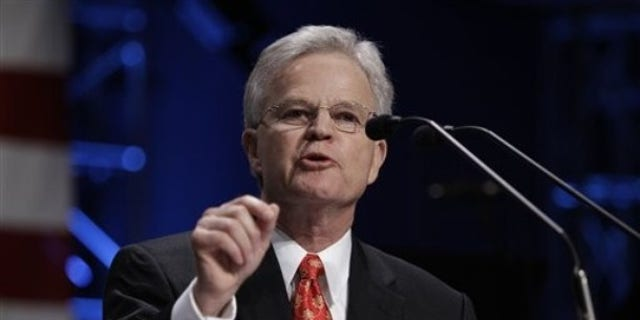 FILE: Former Louisiana Gov. Buddy Roemer speaks at the Iowa Faith and Freedom Coalition on March 7 at the Point of Grace Church in Waukee, Iowa.