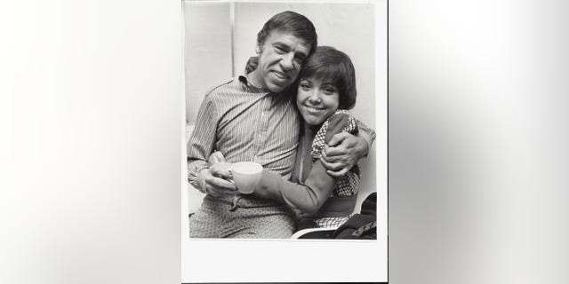 Buddy Rich with his daughter Cathy, who shared a memorable story involving Frank Sinatra.