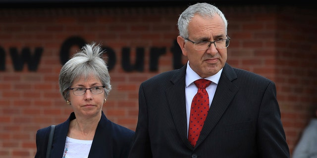 Nigel and Paula Burt, Olivia's parents, are seen above.