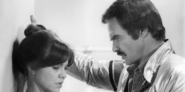 "Sally Field and Burt Reynolds in the 1978 film ""Hooper."""