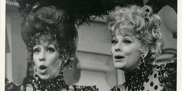 Carol Burnett with Lucille Ball.